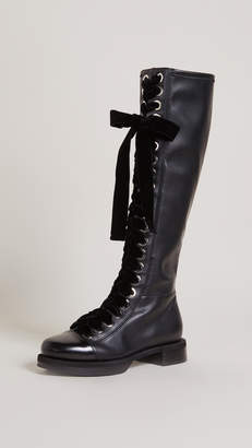 Grey Mer Greymer College Roxy Combat Boots