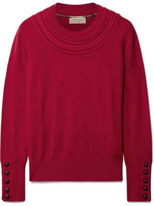 Burberry Cashmere Sweater - Burgundy
