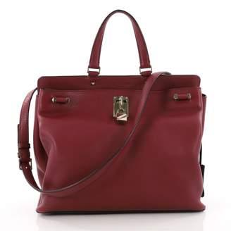 Valentino Burgundy Leather Handbag
