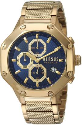 Versus By Versace Men's 'KOWLOON' Quartz Stainless Steel and Plated Casual Watch(Model: VSP390417)