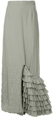 Comme des Garcons Junya Watanabe Pre-Owned quilted long skirt
