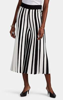 Derek Lam 10 Crosby Women's Striped Compact Knit Wide-Leg Pants - Black