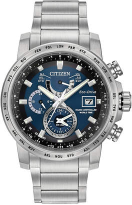 Citizen Men's Eco-Drive Stainless Steel Bracelet Watch 44mm AT9070-51L $625 thestylecure.com