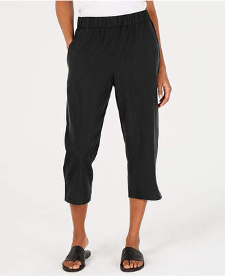 Eileen Fisher Cropped Tencel and Recycled Polyester Pull-On Pants