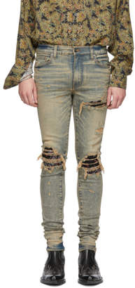 Amiri Indigo Bandana Jeans