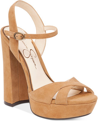 Jessica Simpson Naidine Strappy Block-Heel Sandals $98 thestylecure.com