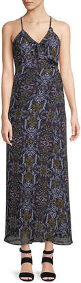 Dex Medallion-Print Sleeveless Maxi Dress