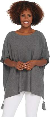 Belle By Kim Gravel Belle by Kim Gravel Sweater Poncho with Tassels