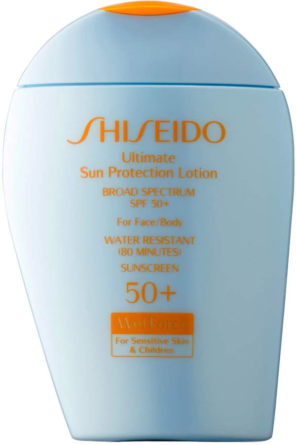 Shiseido Ultimate Sun Protection Lotion Broad Spectrum SPF 50+ WetForce for Sensitive Skin & Children Image