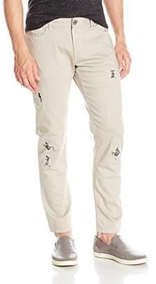 Armani Jeans Men's Slim Fit Denim with Rip and Repair Details