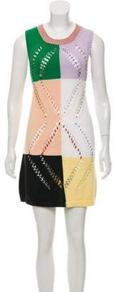 Marco De Vincenzo Embellished Sweater Dress