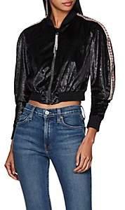 Area Women's Ezra Embellished Crop Jacket-Black