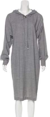 Max Mara Hooded Wool Dress