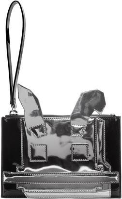 McQ Alexander Mcqueen Black & Silver Electro Bunny Pouch $290 thestylecure.com