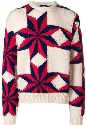 Calvin Klein star intarsia jumper