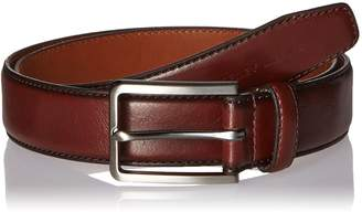 Geoffrey Beene Men's Dress Belt with Dark Gunmetal Buckle