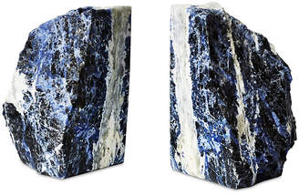One Kings Lane Set of 2 Large Sodalite Bookends