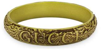 Gucci bracelet with engraved leaves