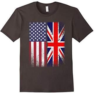 British American Flag T-shirt Great Britain Union Jack