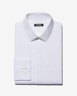 Express Slim Fit Pleated Tuxedo Shirt