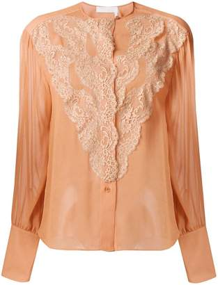 Chloé scalloped lace blouse