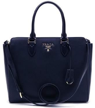 Prada Saffiano Lux Handbag Navy Blue