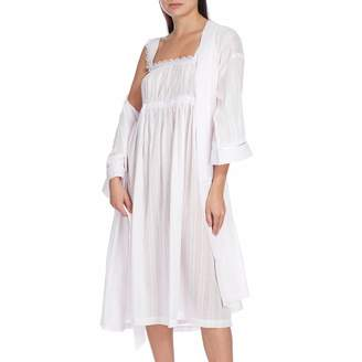 Pale Pink Deluxe Rope Stripe Gathered Nightdress 591eb7d26