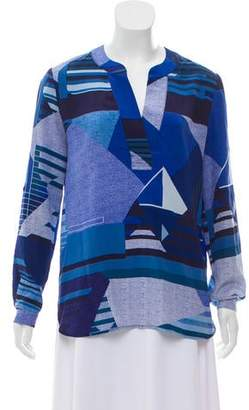Diane von Furstenberg Long Sleeve Silk Tunic