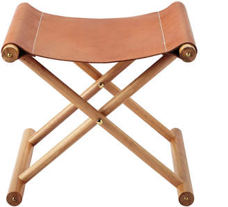 Serena and Lily Cooper Leather Stool