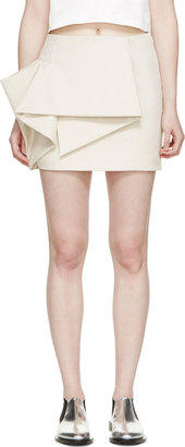 Marc by Marc Jacobs Beige Origami Tailored Mini Skirt $480 thestylecure.com