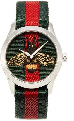 Gucci 'Le Marché des Merveilles' bee embroidered 38mm watch
