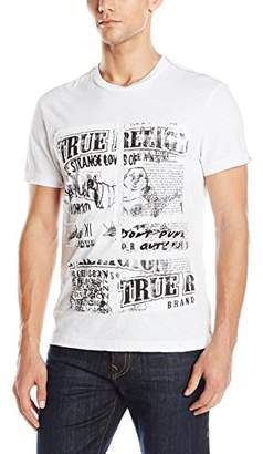 True Religion Men's Cut Up Buddha T-Shirt