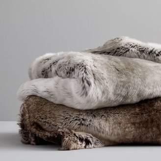 west elm Faux Fur Ombre Throws