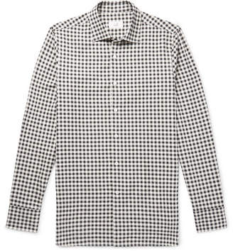 Dunhill Slim-Fit Gingham Cotton-Flannel Shirt