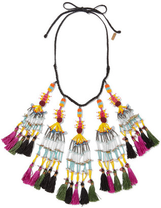 Etro - Beaded Tassel Necklace - Black $625 thestylecure.com