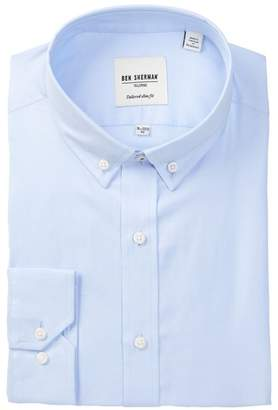Ben Sherman Blue Tailored X-Trim Fit Dress Shirt