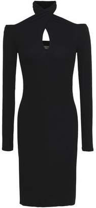Enza Costa Cutout Ribbed Jersey Dress