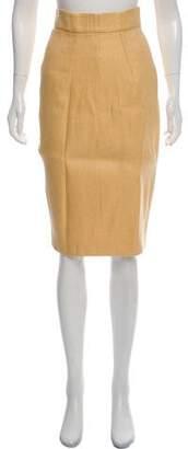 Emilia Wickstead Silk Knee-Length Pencil Skirt
