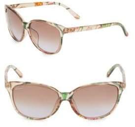 Gucci 57MM, Cat Eye Sunglasses