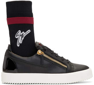 Giuseppe Zanotti Black May London Sock High-Top Sneakers