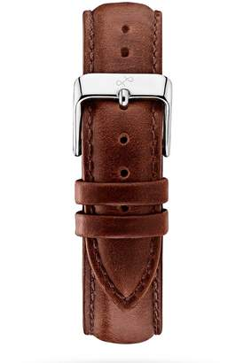 About Vintage - Brown Leather Strap & Steel