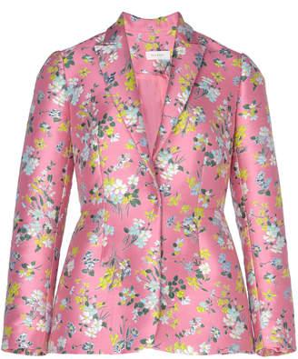 DELPOZO Floral-Detailed Satin-Jacquard Blazer Size: 38