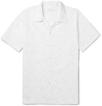 Richard James Camp-Collar Printed Cotton Shirt