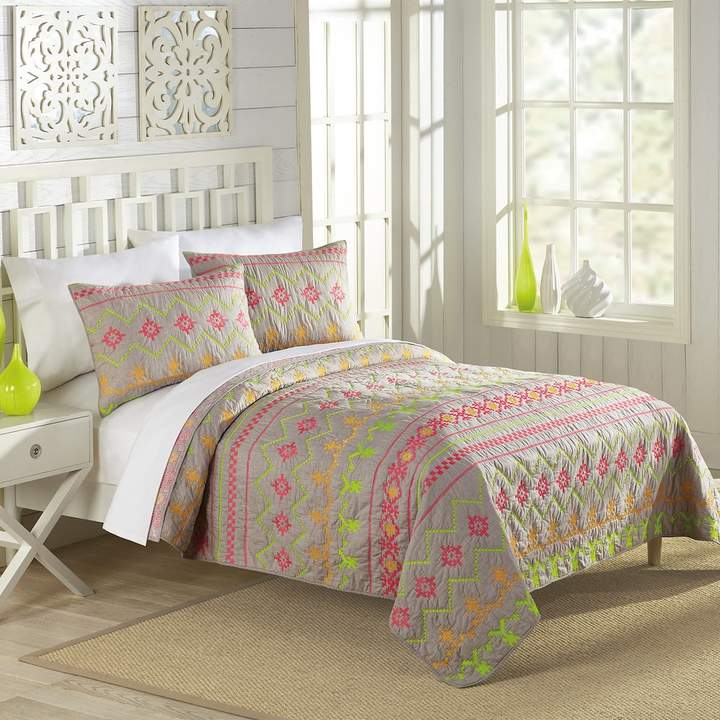 Marion Neon Embroidered Quilt