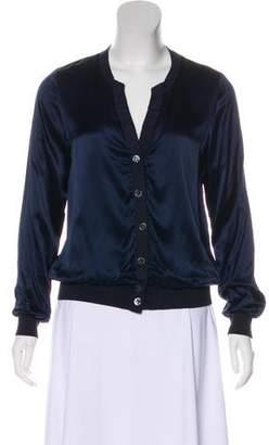 Magaschoni Silk Button-Up Cardigan