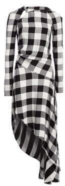 Monse Gingham Flare Dress