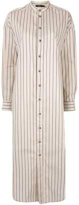 Bassike striped shirt dress
