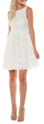 Dex Floral Lace A-Line Dress