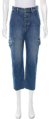 Vince High-Rise Straight-Leg Jeans