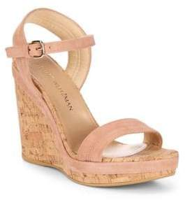 Stuart Weitzman Jezebel Leather Wedge Sandals